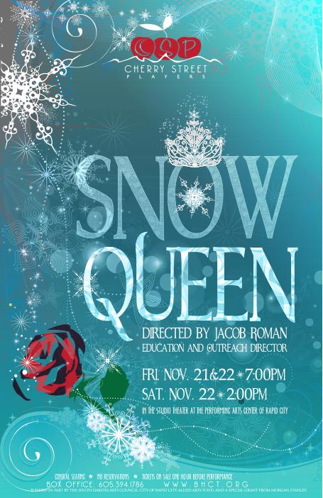 snow queen poster design asio studio